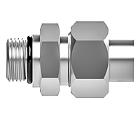 Koncentric straight thread assembly