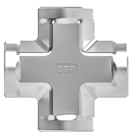 Stainless steel pipe fitting cross