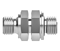 Pipe fitting male BSPP union