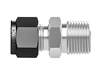 Tube fitting BSPT connector