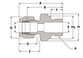 Male Connector BSPP - Duolok