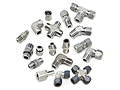 Tube Fitting Family, Doulok two-ferrule tube fittings, Unilok single ferrule tube fittings, and Griplok dual ferrule tube fittings.