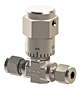 Vernier handle on 500 Series metering valves