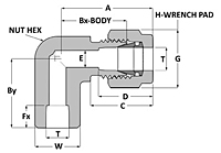 Tube fitting to tube socket weld elbow