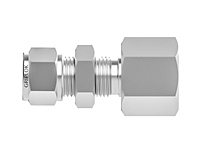 Tube fitting bulkhead female connector